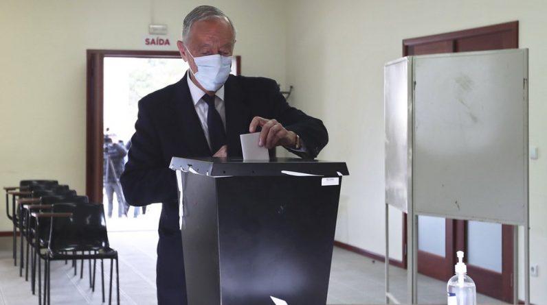 Outgoing President Marcelo Rebello de Sousa ...