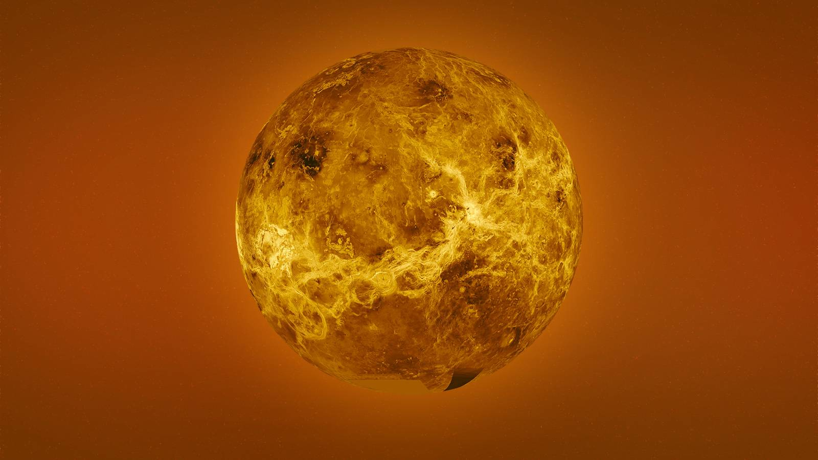 Planet Venus surface temperature