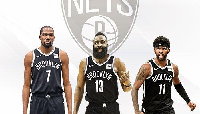James Harden, Kevin Durant et Kyrie Irving chez les Nets