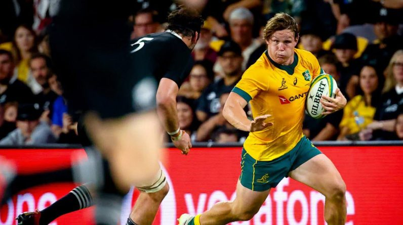 Rugby.  In Australia, New Zealand falls for the first time since the World Cup