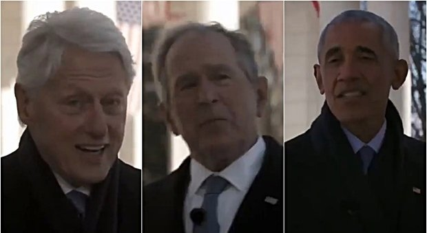 "Yusa, Clinton, Bush and Obama in a video: ""Biden cheers you on"""