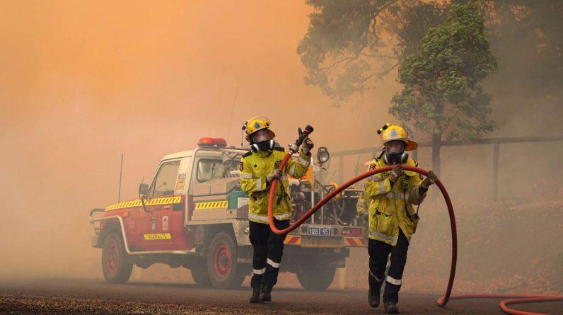 In Australia, firefighters control a fire near Perth