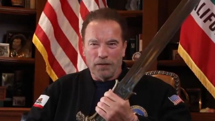 Arnold and Conan's sword: the bulwark of democracy?