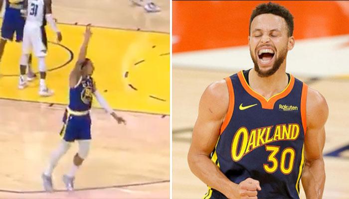 La géniale séquence entre Steph Curry et un coéquipier en plein match NBA