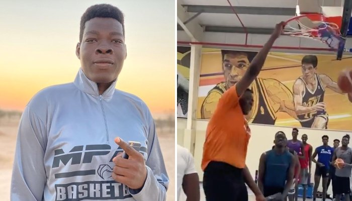 Abiodun Adegoke mesure 2m40 et terrorise tous ses adversaires