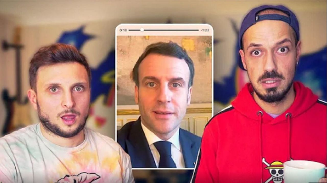 Emmanuel Macron promised McPhee and Carlito to take part in an event competition.  Web light