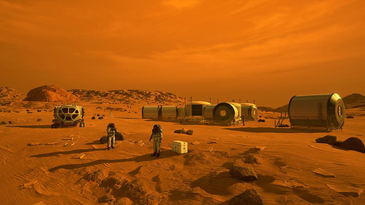 Mars mission, astronaut case, virtual gravity