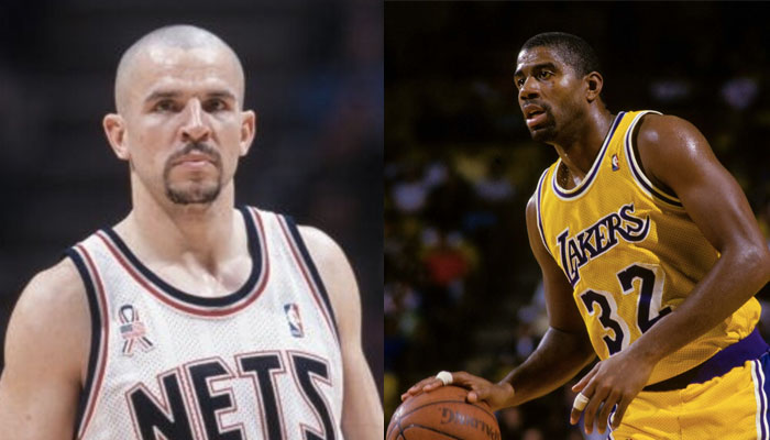 Jason Kidd aux Nets et Magic Johnson aux Lakers
