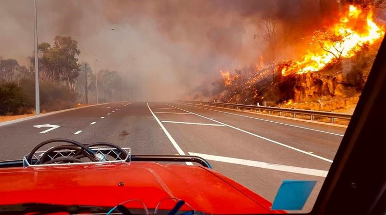 Uncontrolled wildfires destroy dozens of homes in Perth, Australia