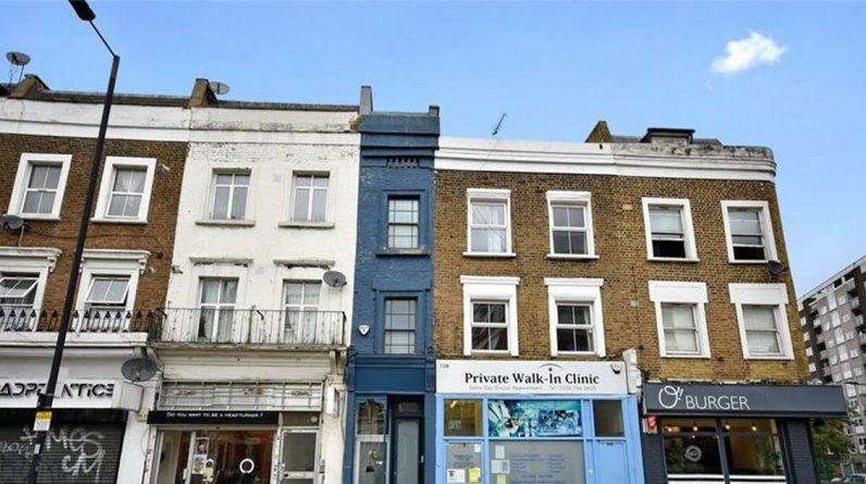"""Unusual.  The """"narrow house in London"""" is on sale for 1 million"""