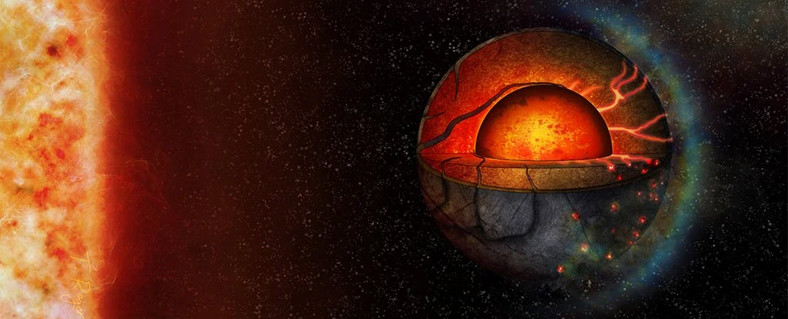 Art view of the LHS 3844b exoplanet