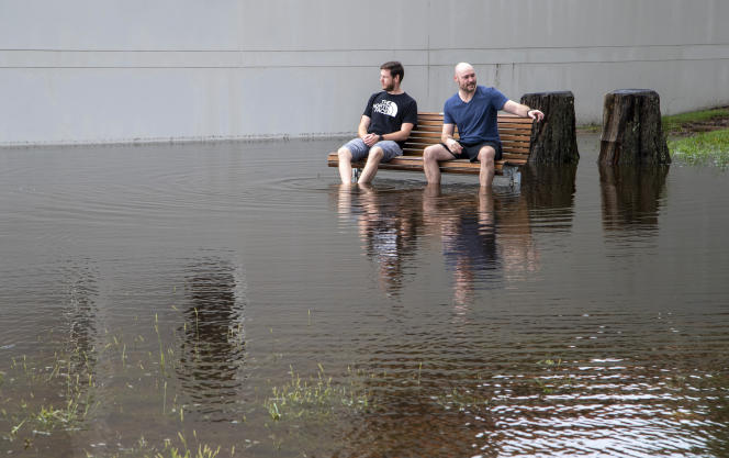 In a flooded park on March 20 in Port Stephens, Australia.