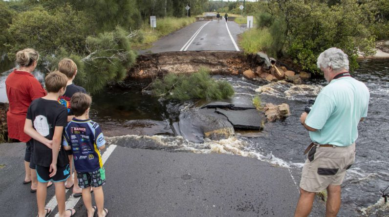 In Australia, hundreds were evacuated after torrential rains