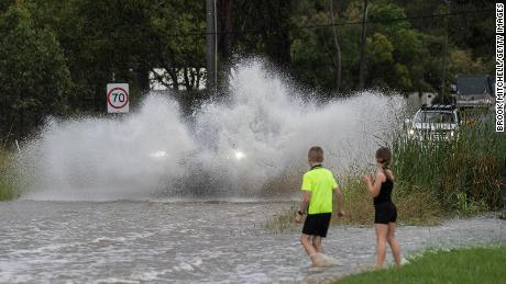 The whole house is inundated as floodwaters hit the east coast of Australia