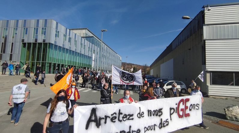 GE: Nuclear branch workers protest against job cuts