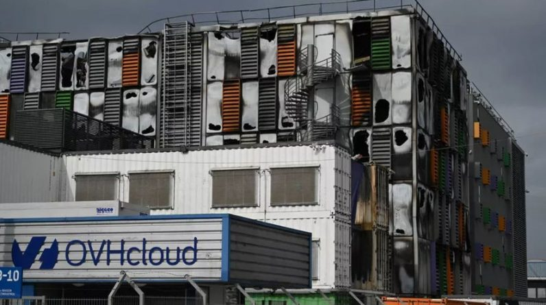 How did the Strasbourg-based OVHCloud fire set the French web on fire?