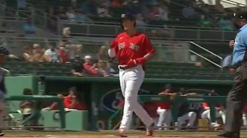 Jaron Duron stands alone in the Red Sox camp