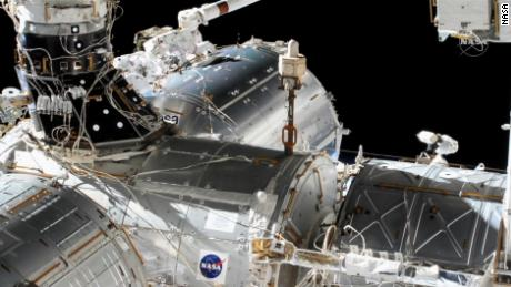 NASA astronauts Victor Clover and Mike Hopkins traveled into space on Wednesday