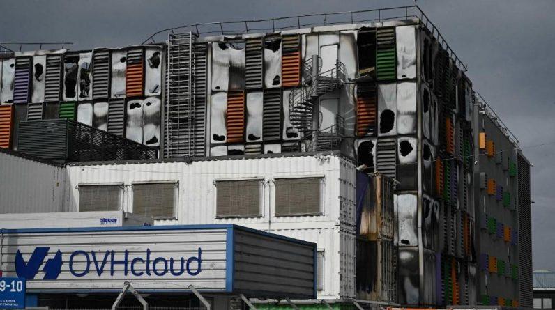 L'un des quatre centres de données d'OVHcloud sur son site de Strasbourg a été détruit par le feu mercredi. Photo PATRICK HERTZOG / AFP