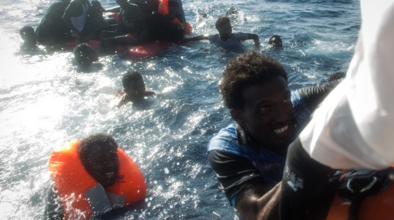 Two migrant boats sank in the Mediterranean.  At least 39 people died
