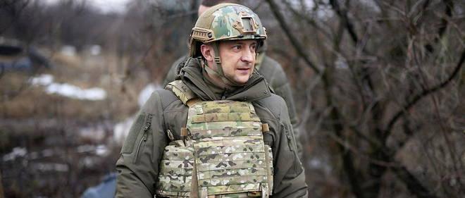 Ukrainian President Volodymyr Zhelensky visits the front in the Donetsk region.