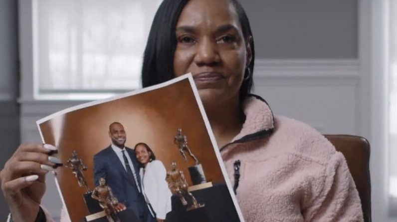 LeBron James and his mother at the center of Walmart's recent campaign