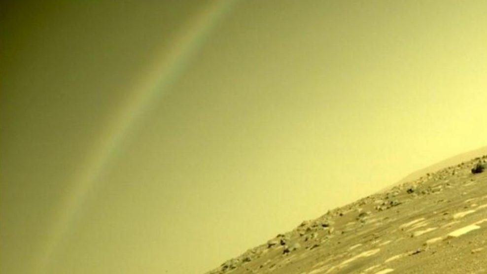 Perseverance Favorite of a rainbow on Mars?