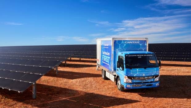 Fuso eCanter arrives in Australia