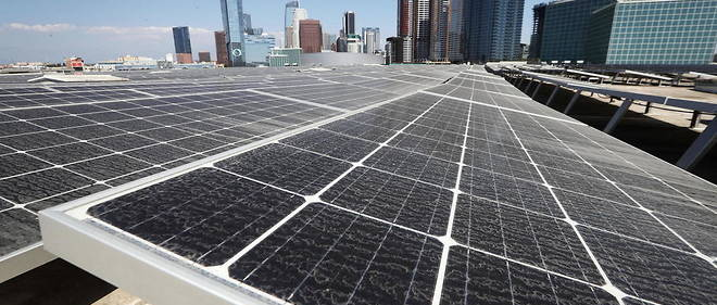 Collection of Solar Panels in Los Angeles, California.