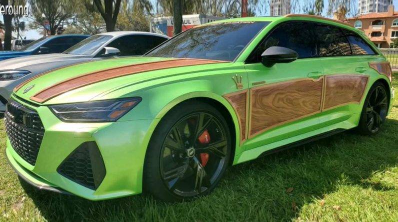 Here is the most horrible Audi RS6 Avant