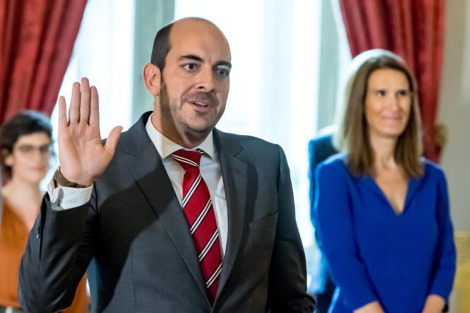 Matthew Michael, son of former European Commissioner Louis Michel, Belgium's Secretary of State for Digitization, in Brussels on October 1, 2020.