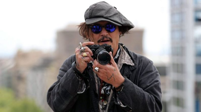 Johnny Depp in Spain to promote his latest film