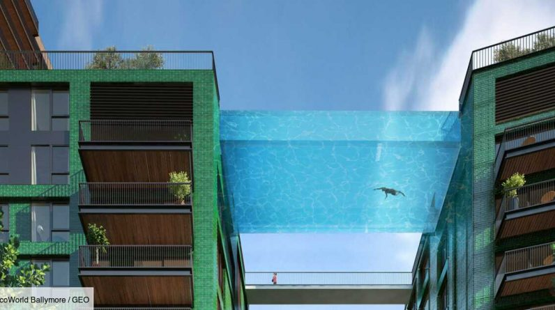 LONDON: A transparent swimming pool suspended in the air opens its doors