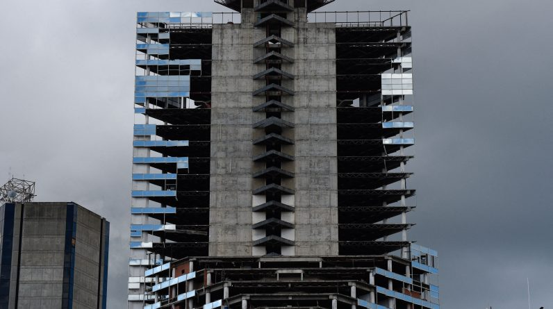 Large buildings built unnecessarily because they were never used