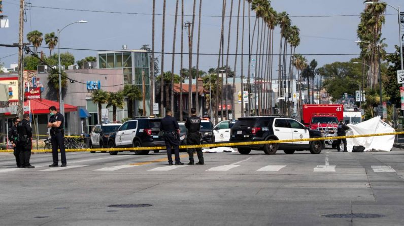 Man shot dead by Hollywood police after bizarre Sunset Boulevard clash |  Abroad