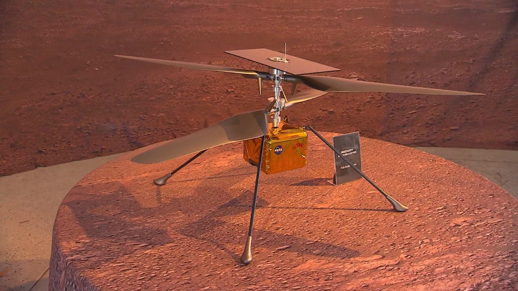 Ingenuity, the first flight to Mars