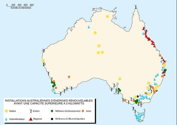 Renewable Energy Map in Australia