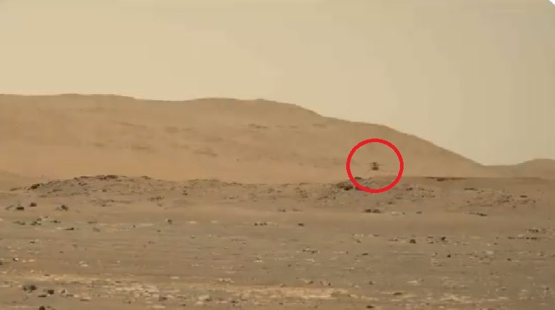 Video: The golden moment of NASA's mission to Mars, the rover succeeds in recording the sound of the ingenious helicopter |  NASA's diligent rover helicopter sends video with audio for the first time on Mars