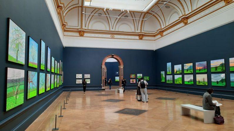David Hockney's Normandy on display in London