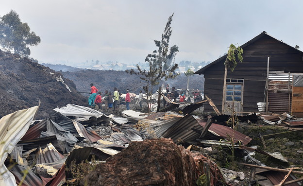 Volcanic eruption in Congo (photo: Reuters)