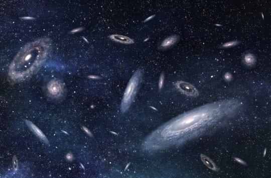 """Eine Karte der dunklen Materie zeigt """"versteckte Brücken"""" zwischen Galaxien"""