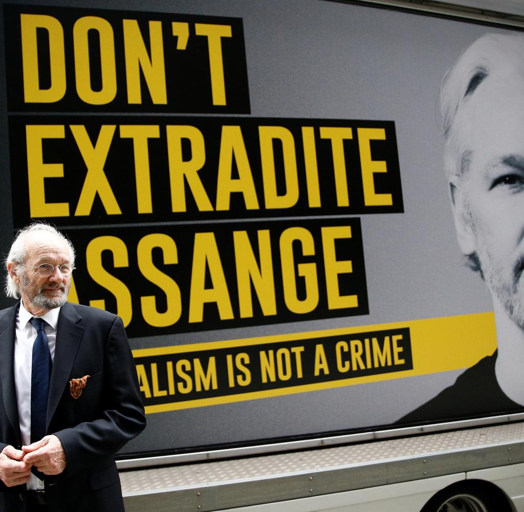 Desperate father: John Shipton decides the fate of his son Julian Assange in court