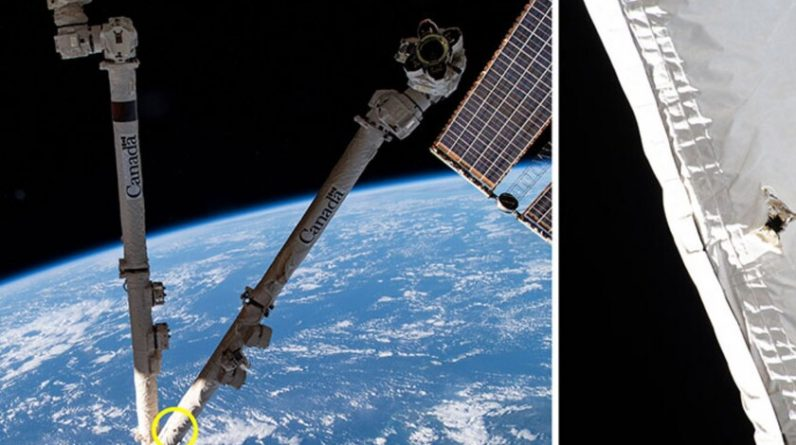 A small orbiting object has damaged the International Space Station