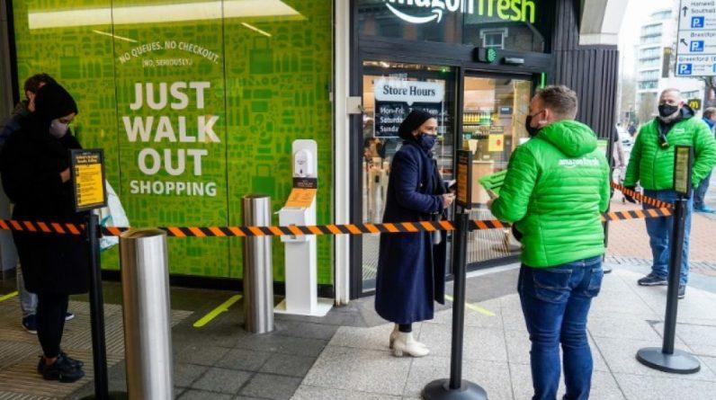 """Boutique """"Amazon fresh"""" sans caisse"""