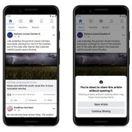 Providing an info box on Facebook