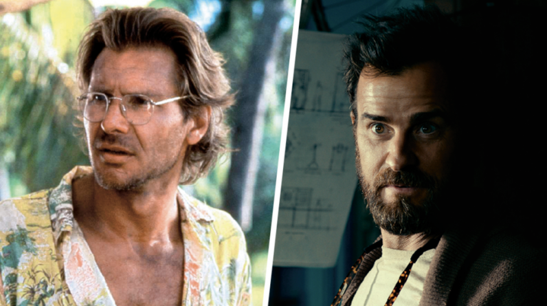 "Harrison Ford in the movie ""The Mosquito Beach"" or Justin Theroux in the series?"
