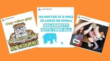 Internet memes come in the form of humorous film with humorous or sarcastic text, written in large letters and are bold.
