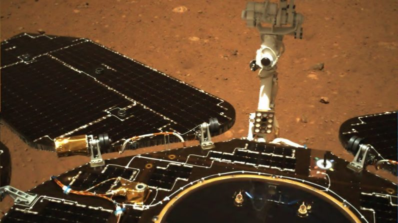The first rover China sent to Mars has already begun its exploration