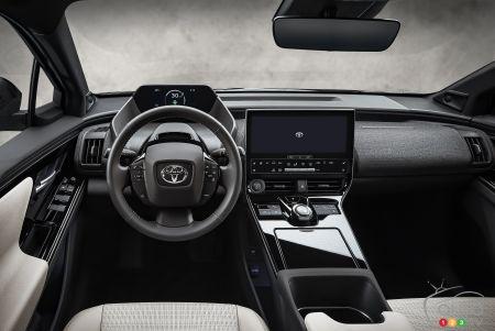 Toyota bZ4X prototype, interior