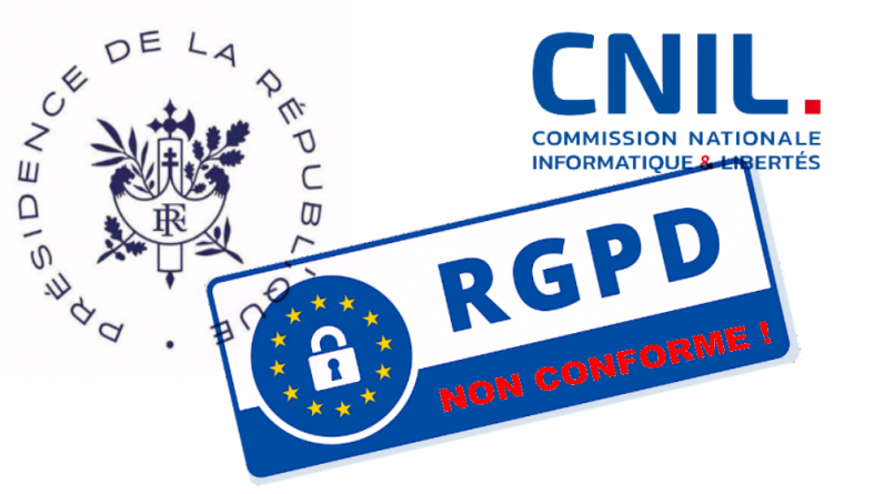 Elysee and CNIL sites do not comply with GDP ... so what?